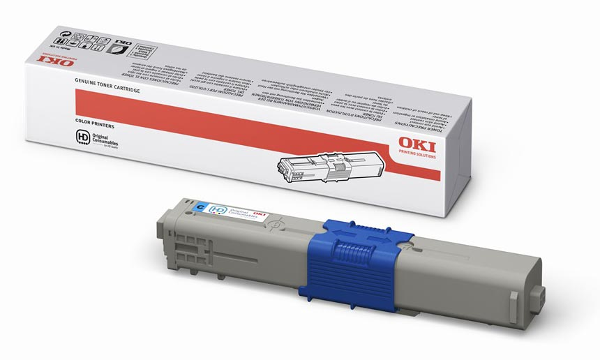 Mực in Oki C510 Cyan Toner Cartridge (44469757)